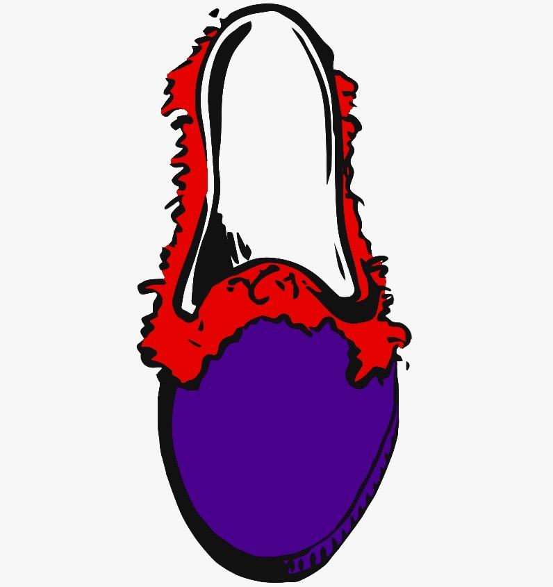 viola frangia rosso